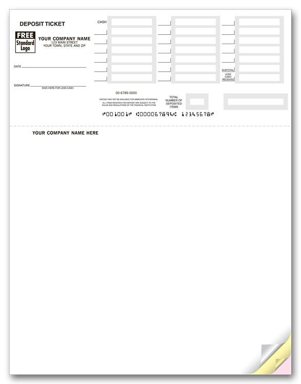 photograph about Quickbooks Printable Deposit Slips titled Deposit Slips Highly developed Printing Companies LLC