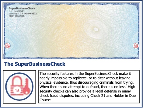 The Frank Abagnale SuperBusinessCheck.  Stop Check Fraud!